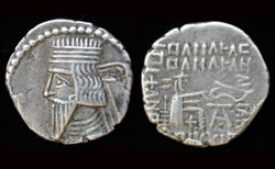 Kingdom of Parthia, King Vologases III, AR Drachm